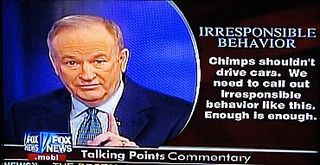 O'reilly-chimps shouldn't drive cars2