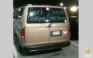 Girlscout cookies van